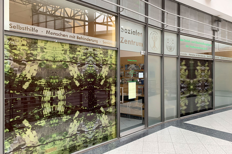 Eingang zum Sozialen Zentrum im Atrium im Congress Centrum Suhl (Foto: Manuela Hahnebach)