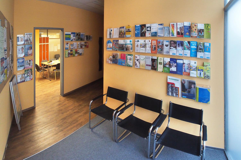 Eingangsbereich im Sozialen Zentrum Suhl im CCS (Foto: Andreas Kuhrt)