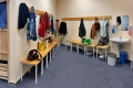 Garderobe am Sportraum im Sozialen Zentrum Suhl im CCS (Foto: Manuela Hahnebach)