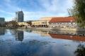 Stadtzentrum Suhl am Herrenteich (Foto: Manuela Hahnebach)