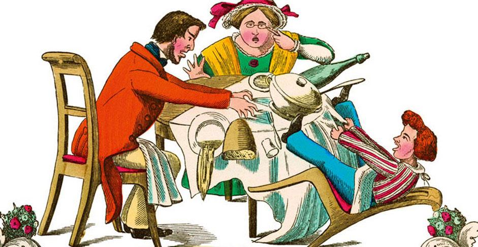 Die Geschichte vom Zappelphilipp . Struwwelpeter . Geschichten des Frankfurter Arztes und Psychiaters Heinrich Hoffmann, 1844